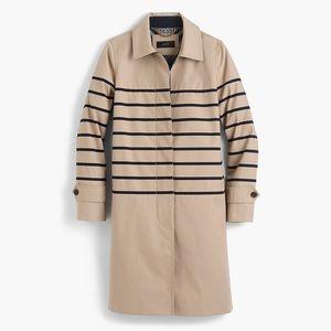J Crew Petite striped trench coat P00